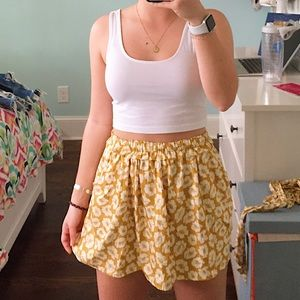 American Eagle flower mini skirt